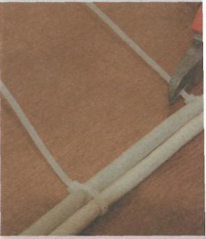 Открытый способ проводки - закрепоение провода