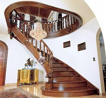 Деревянные лестницы - Крепление ступеней лестницы