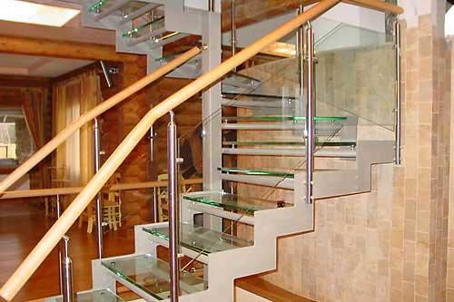 Стеклянные лестницы - Пример лестницы