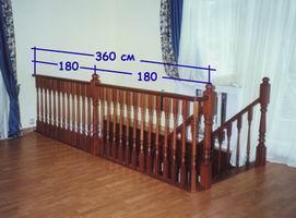 Конструкция лестницы, основные сведения - Дополнительный столб на ограждении длиной более 3 метров