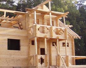 Строительство деревянных домов - Обработка после строительства деревяного дома
