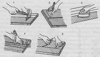 Отделка шпоном. Шпонирование - Этапы работ фанерования шпоном