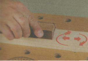 Шлифование древесины - Круговые движения