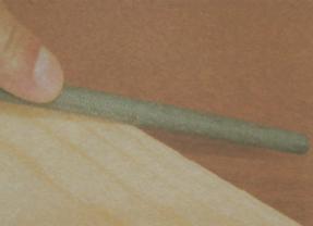 Шлифование древесины - Работа с напильником