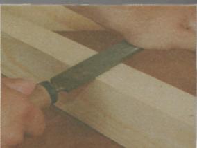 Шлифование древесины - Работа с плоским напильником