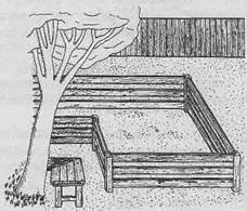Благоустройство участка - Песочница