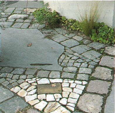 Дорожки и тропинки в саду и на участке - Мозаично мостовые камни