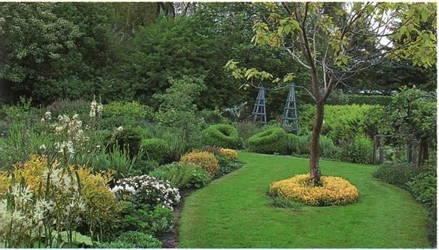 Ландшафтный дизайн сада - Вариант с закргленными формами