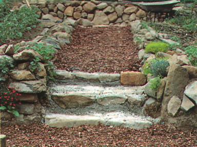 Ландшафтные работы на участке - Каменные ступени