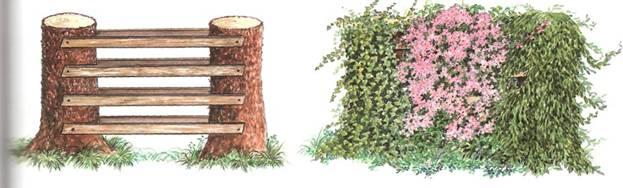 Обновка деревьев в саду - Декорировие пнев