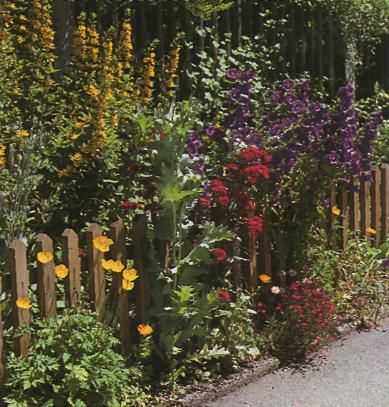 Декор для сада - Забор из штакетника