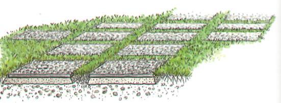 Устройство садовых дорожек - Плиты из декоративного бетона