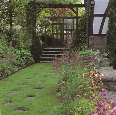 Устройство садовых дорожек - Расположения плит