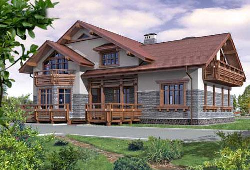 Выбор количества этажей дома - Мансардный дом