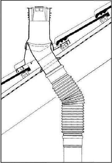 Натуральная черепица Braas - Угол установки проходной черепицы