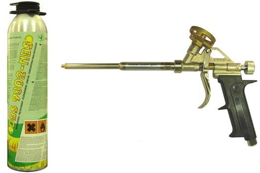 Применение монтажной пены - Пистолет для монтажной пены
