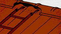Монтаж металлочереци - Лестницы на крыше