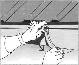 Расчета и установки восточного желоба (водостока) - Фиксация желоба